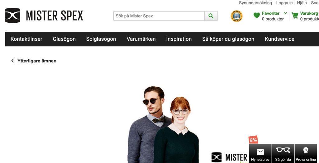 lensstore webbplats