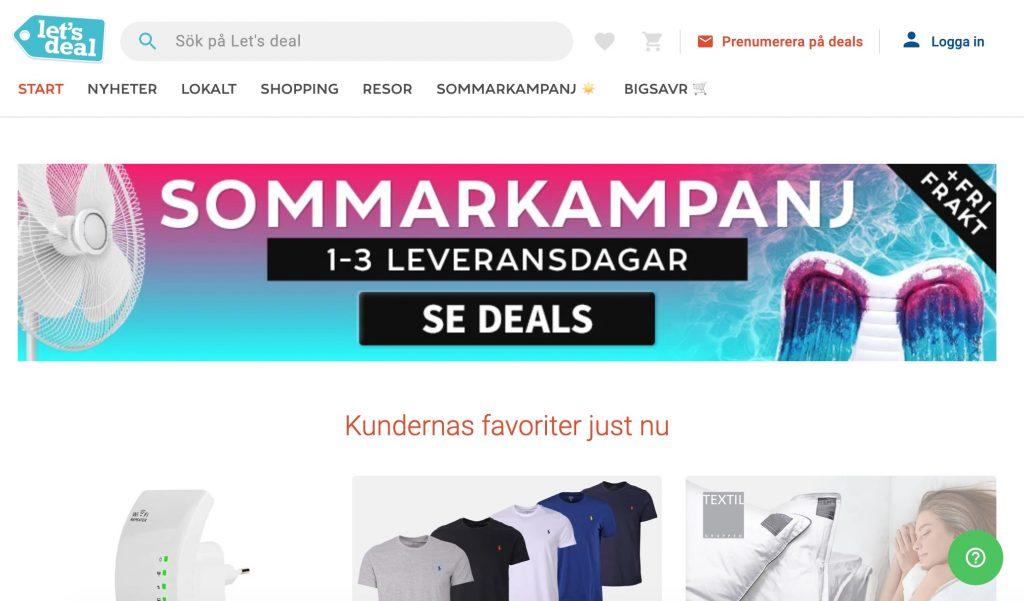 letsdeal webbplats