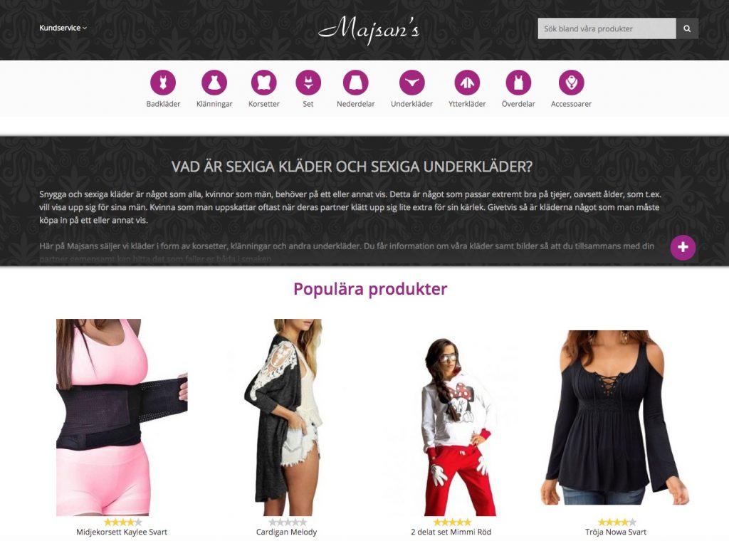 majsans webbutik