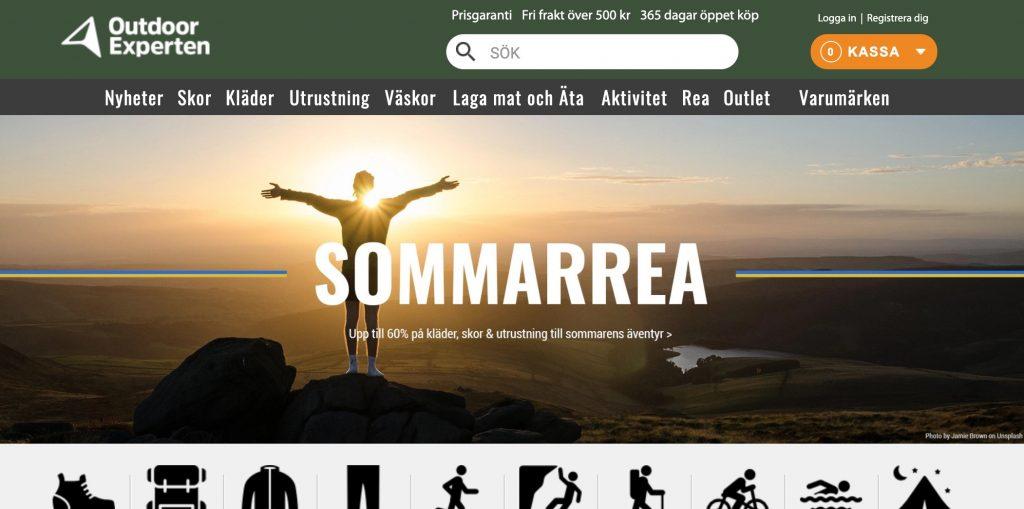 outdoorexperten webbplats