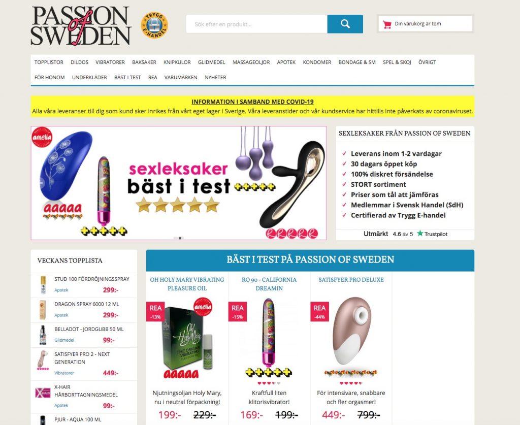 passionofsweden webbplats