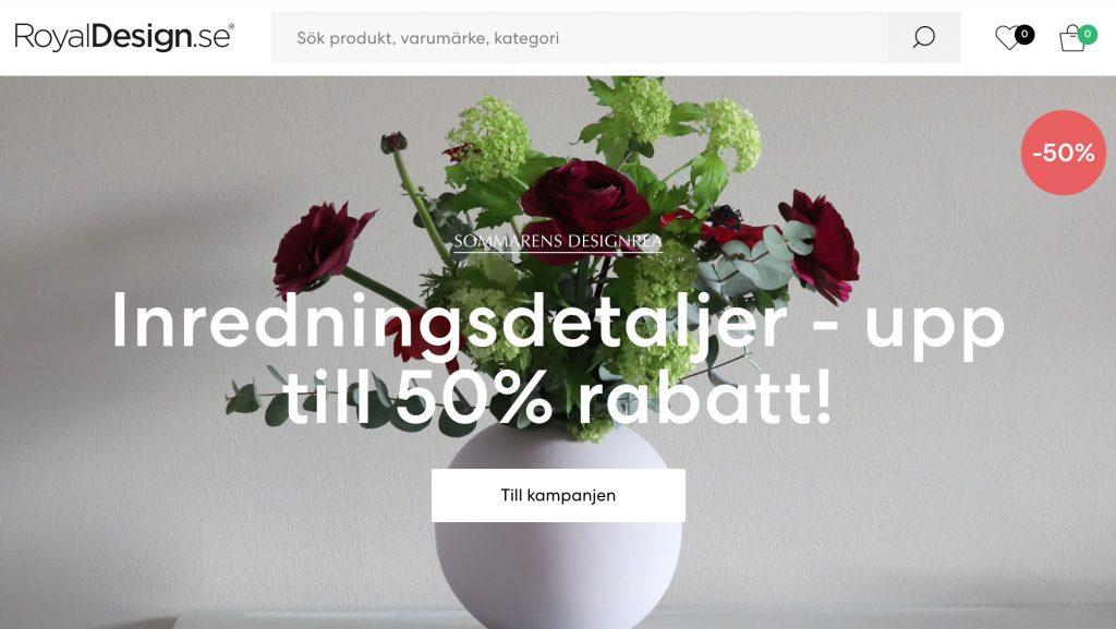 royal design webbplats