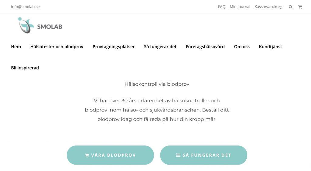smolab webbplats