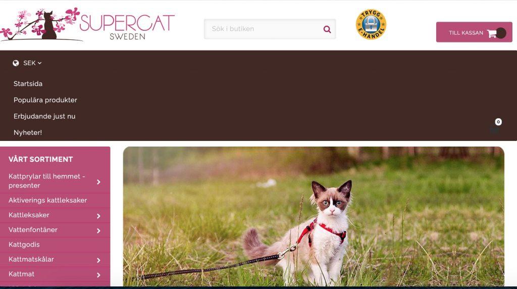 supercat sweden webbplats