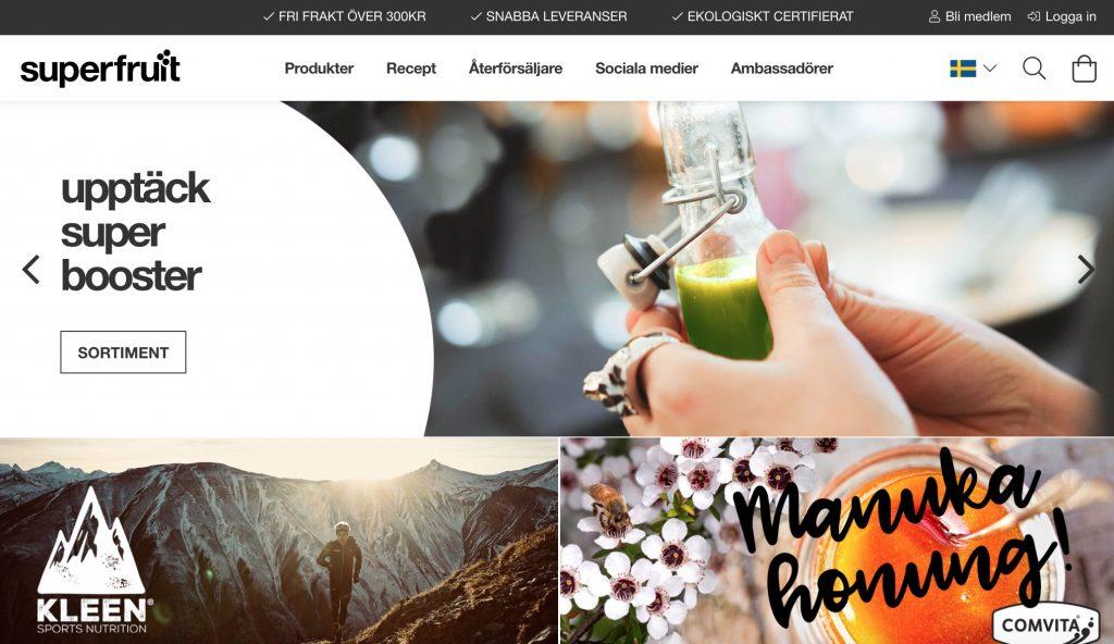 superfruit webbplats