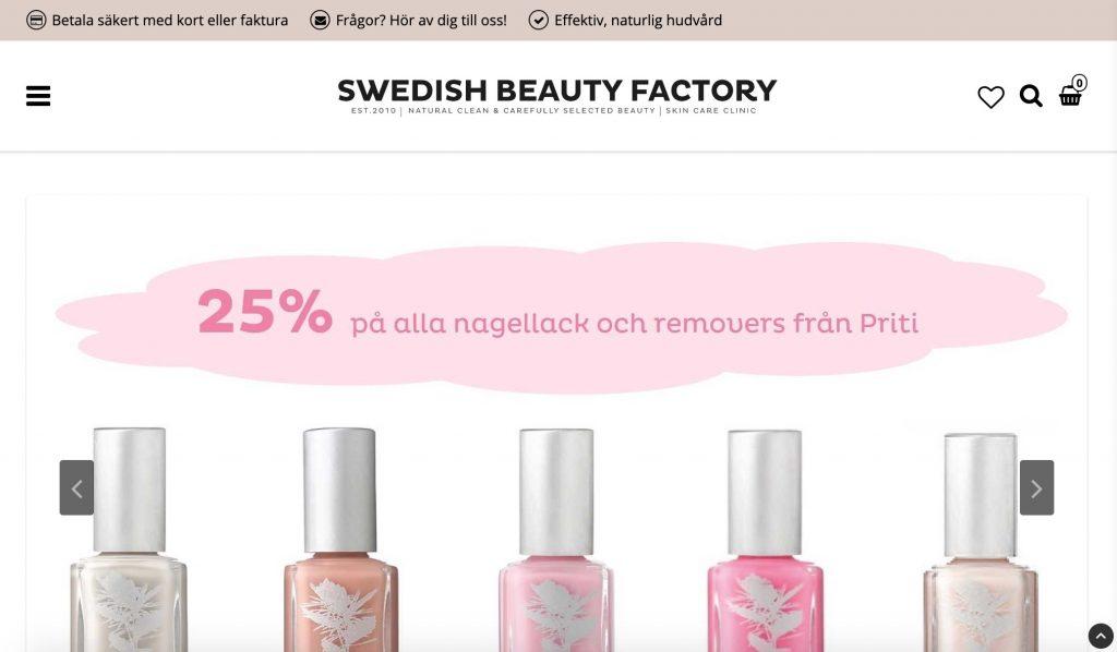 swedishbeautyfactory webbplats