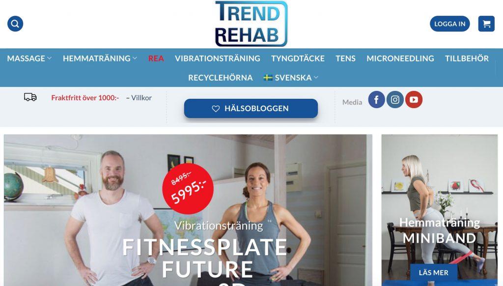 trendrehab webbplats