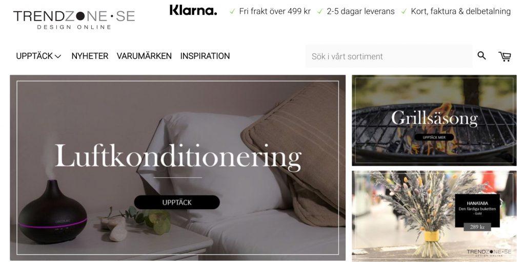 trendzone webbplats
