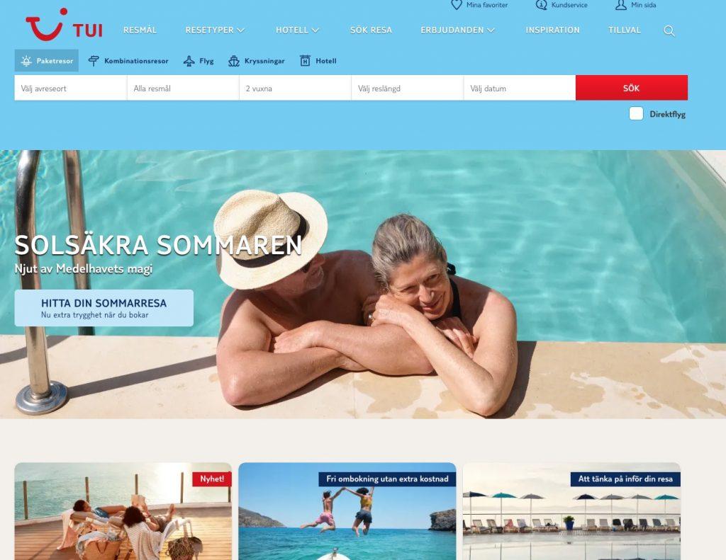 tui webbplats