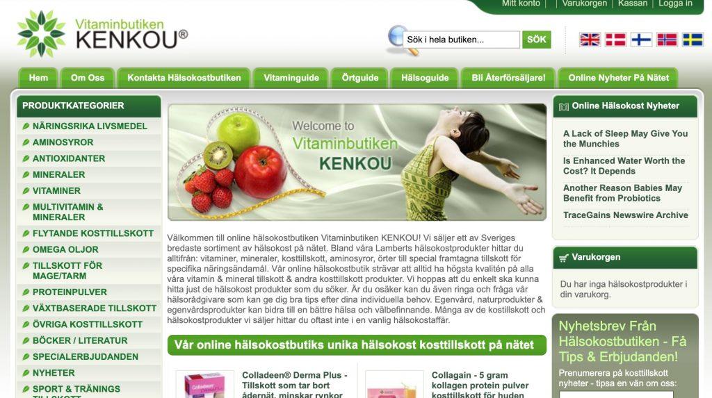 vitaminbutiken webbplats