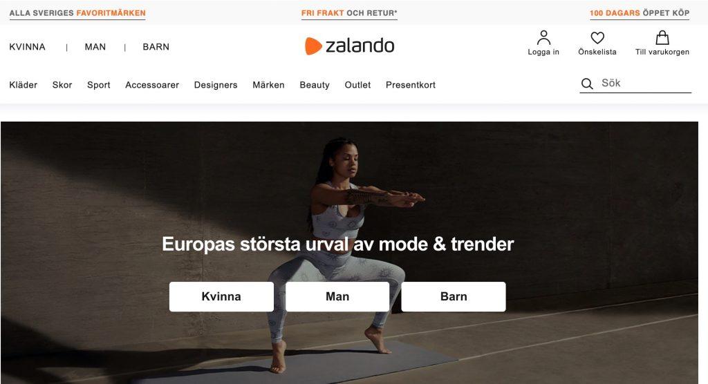 zalando webbplats