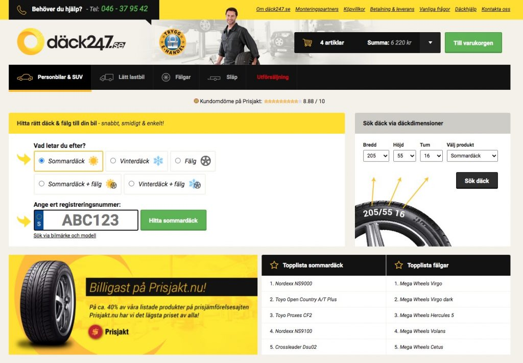 dack247 webbplats