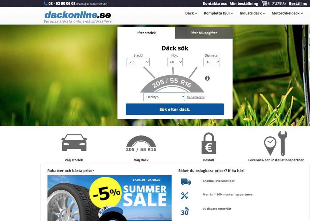 dackonline webbplats