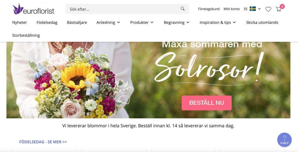 euroflorist webbplats
