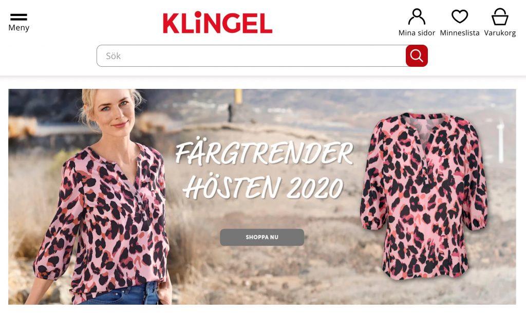 klingel webbplats