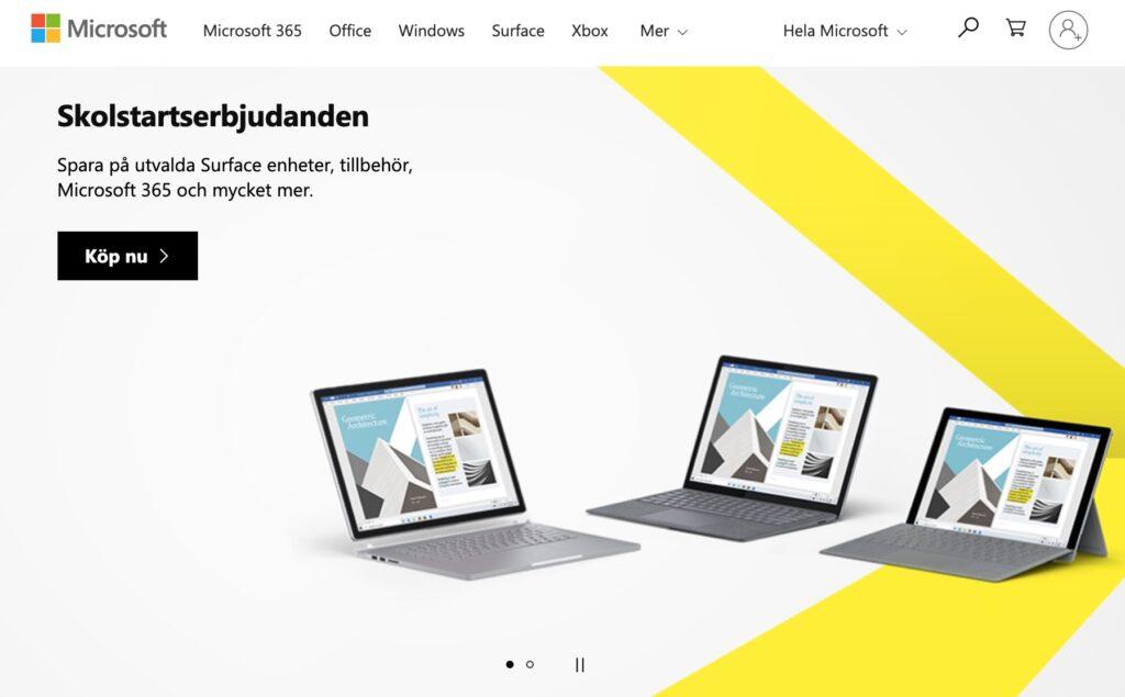 microsoft webbplats