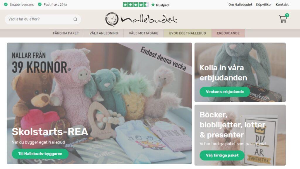 nallebudet webbplats