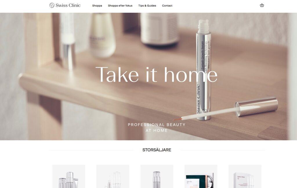 swiss clinic webbplats