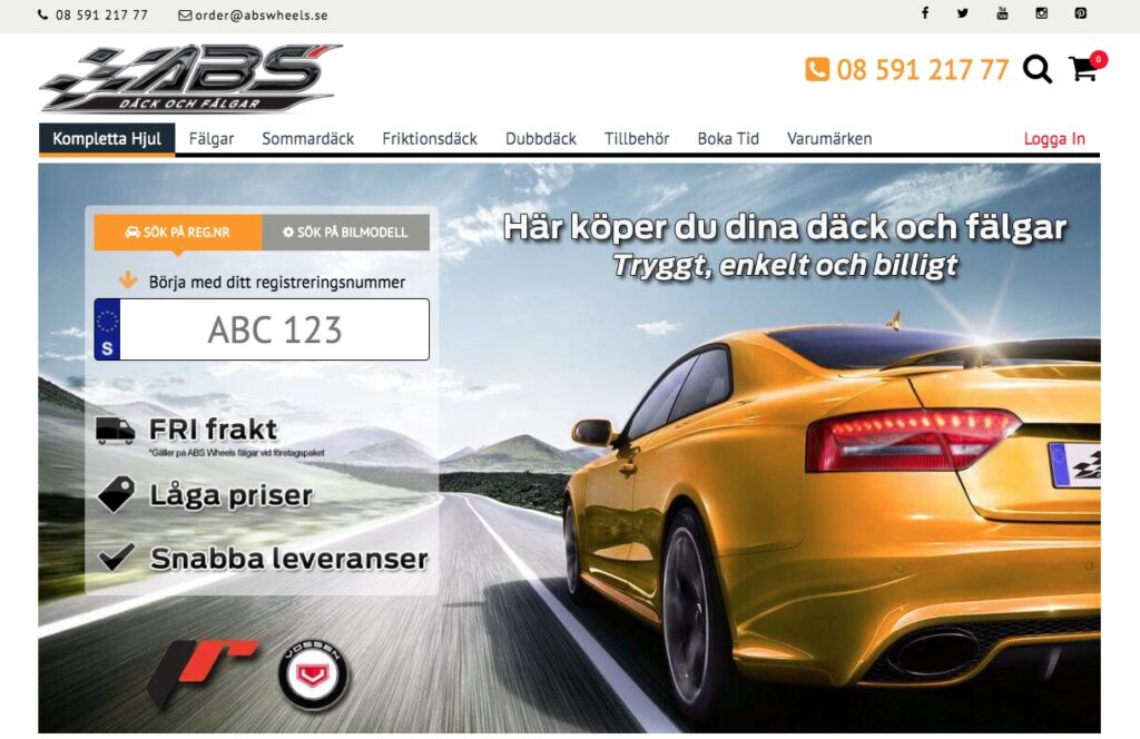 abs wheels webbplats