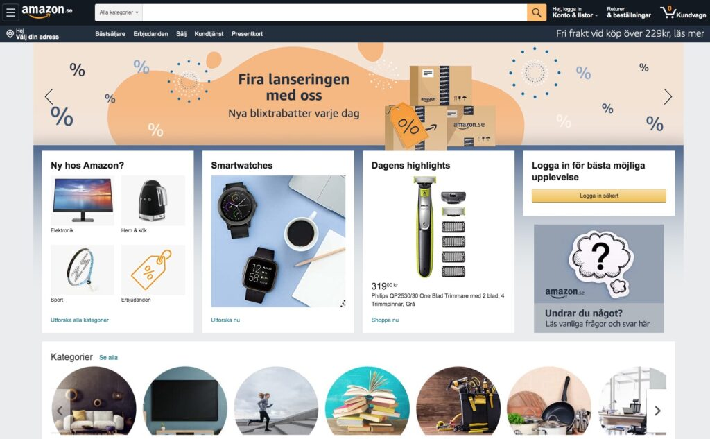 amazon webbplats