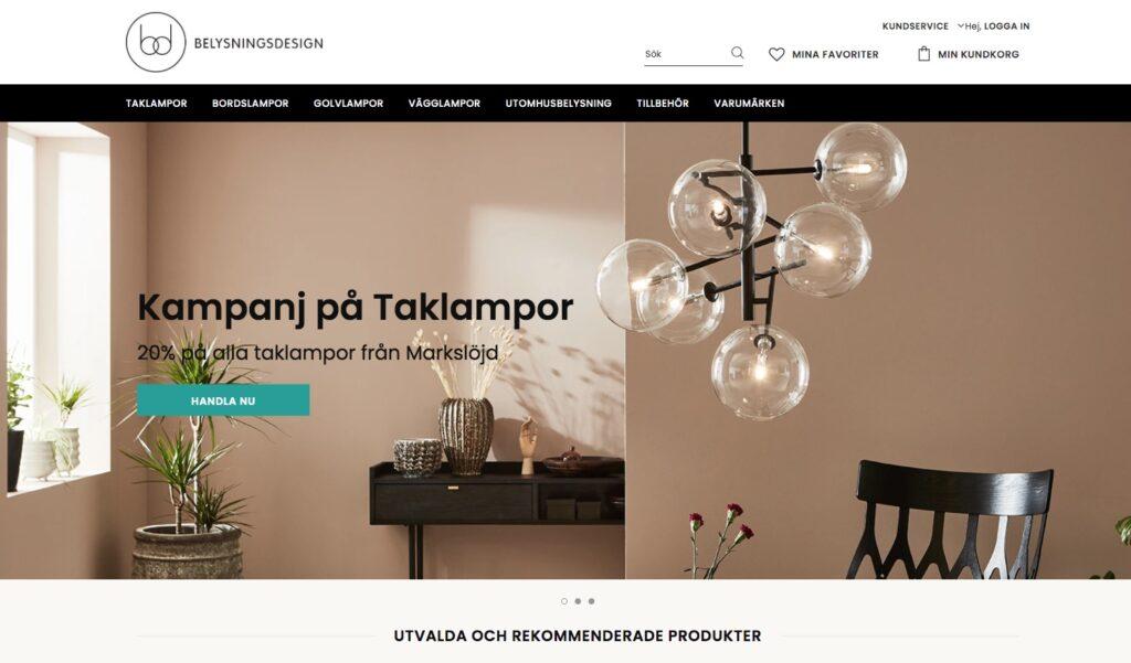 belysningsdesign webbplats