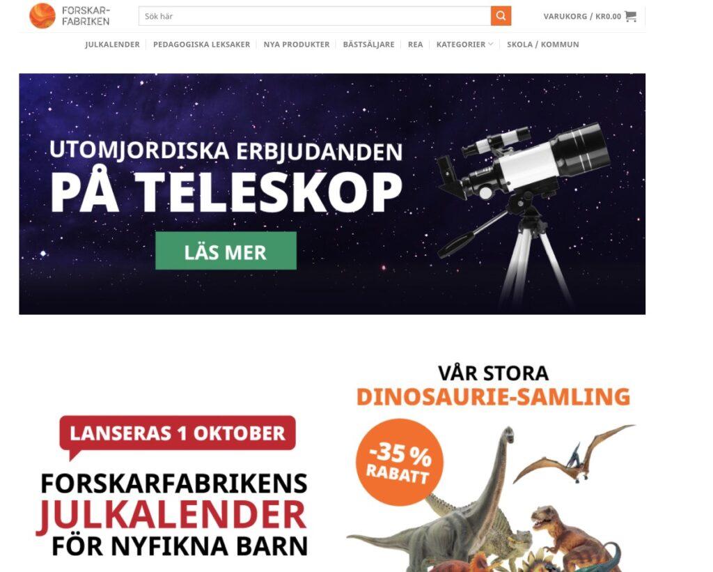 forskarfabriken webbplats