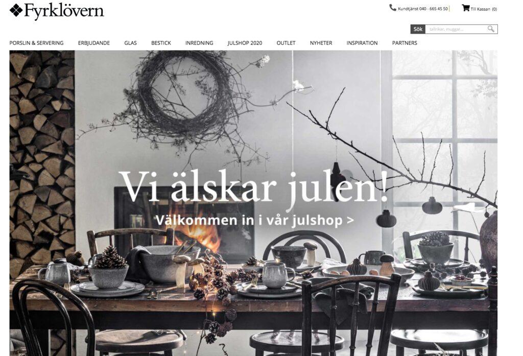 fyrklövern webbplats