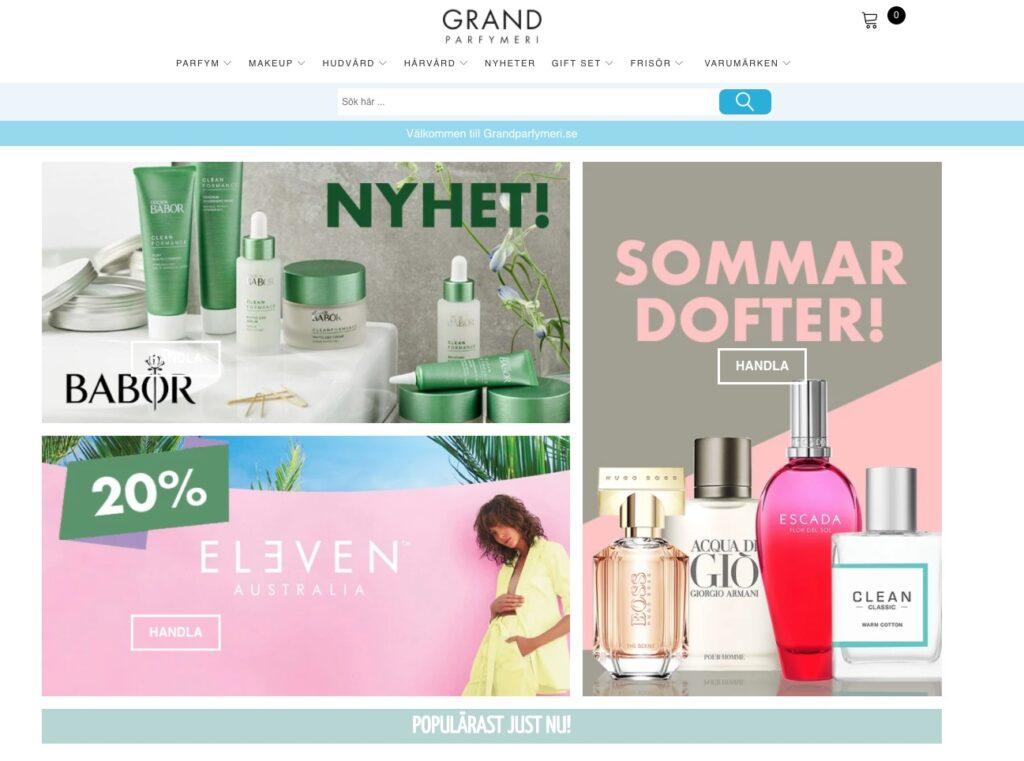 grand parfymeri webbplats