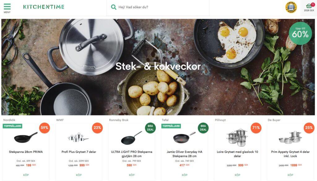kitchentime webbplats