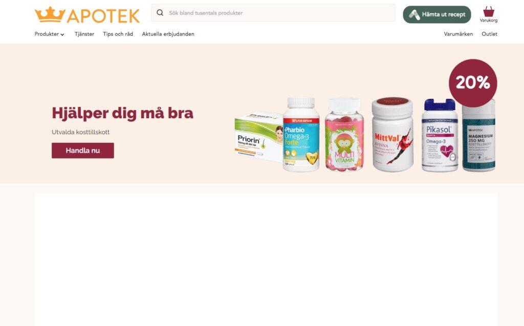 kronans apotek webbplats