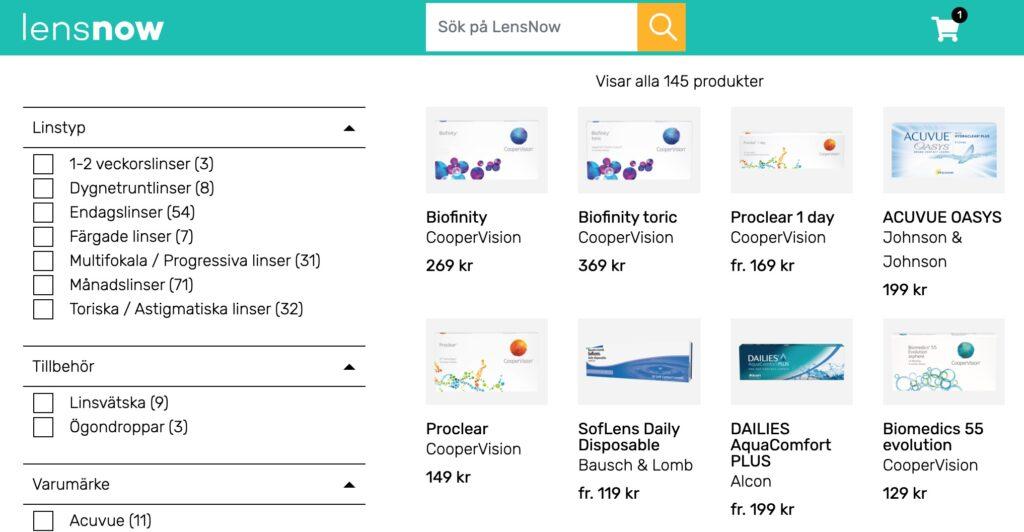 lensnow webbplats