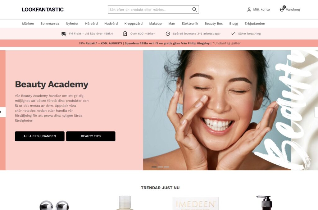 lookfantastic webbplats