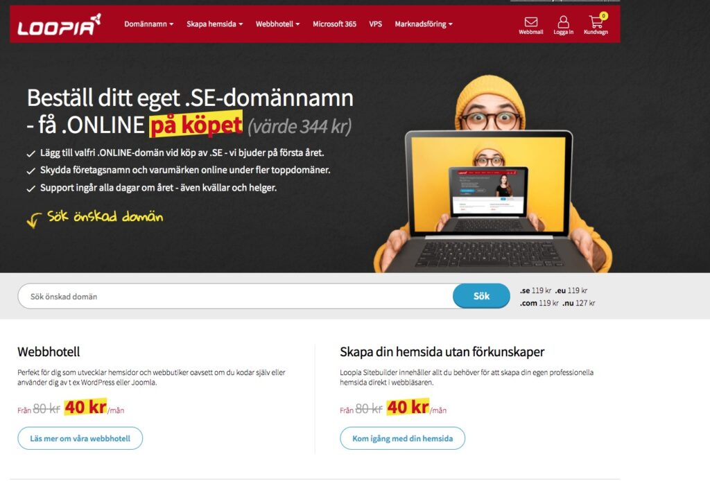 loopia webbplats