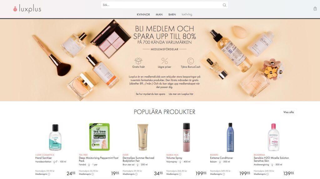 luxplus webbplats