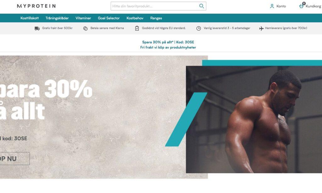 myprotein webbplats