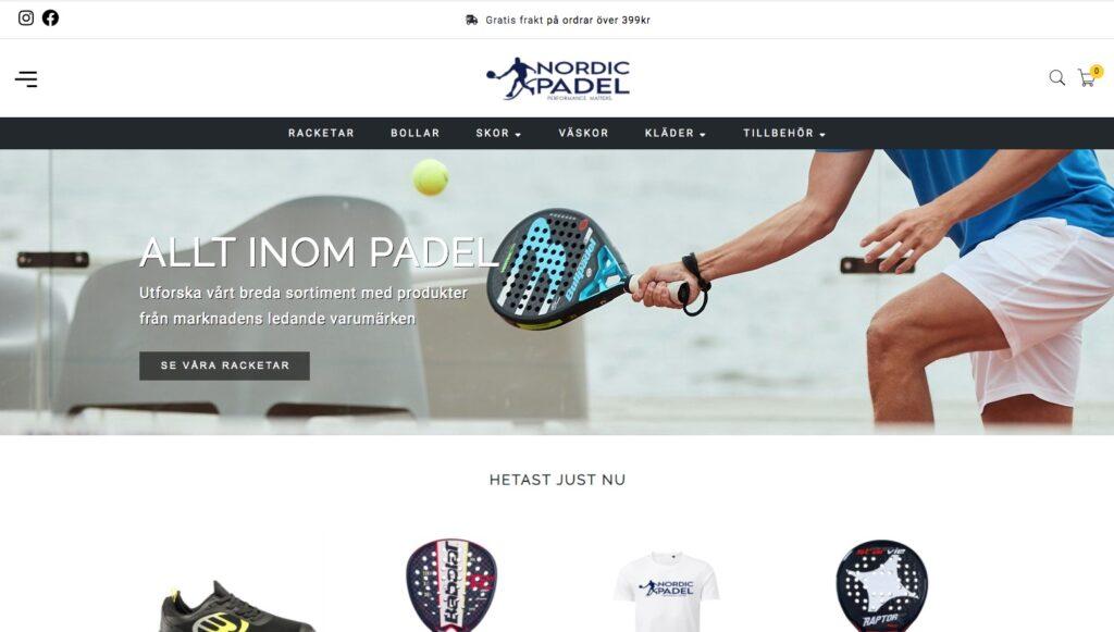 nordic padel webbplats