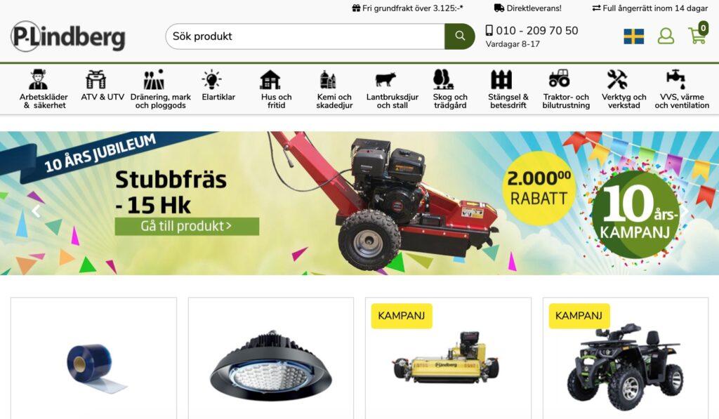 p lindberg webbplats