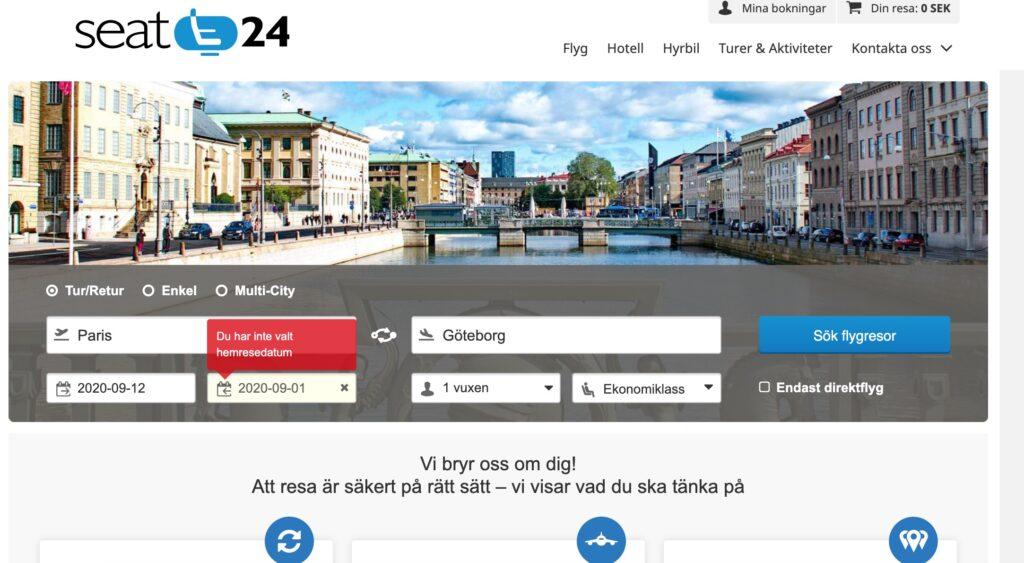 seat24 webbplats
